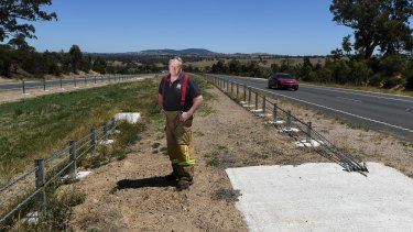 Wire barriers on the Calder Freeway.
