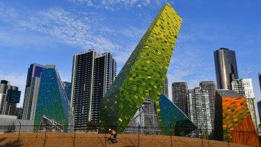 The new sculpture park <i>Habitat-Filter</i> emerges inside the Power Street Loop.