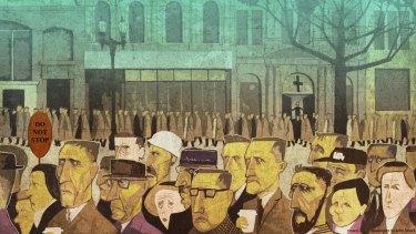 <i>Illustration: Michael Mucci (with apologies to John Brack)</i>