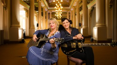Rebecca Barnard and Monique Brumby will sing about books at the State Library as part of Melbourne Music Week.