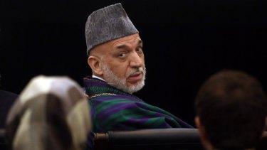 Last word: Afghanistan's outgoing President Hamid Karzai.