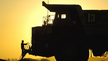 A Rio Tinto coal truck in the Hunter Valley.