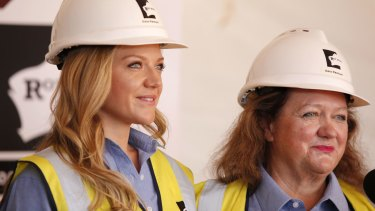 Ginia Rinehart supported her mining mogul mother Gina Rinehart in a case brought by her siblings in 2015.