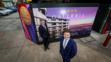 Father and son, John and Lachlan Castran, will sell the 267 Galleria apartments in Glen Waverley and expect them to go fast.