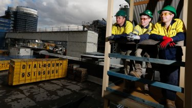 Apprentices David Strong, Ben Davis and Chevy Greenaway are benefiting from on-site training.