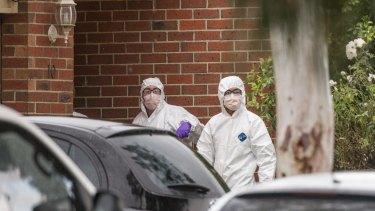Police search the former Roxburgh Park home of Brighton gunman Yacqub Khayre .