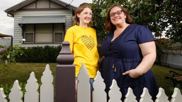 Grace Bugg, 11, who was diagnosed with autism when she was 5, with her mother Renee.