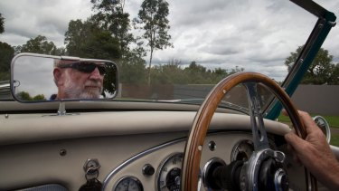 Frank Robson behind the wheel.