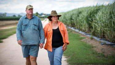 Paula Langdon and her husband Bryan on their farm.