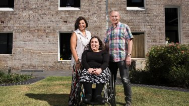 Graham Hand and his wife, Deborah Solomon, bought an apartment off-the-plan for their daughter. Elana. They had the layout changed to suit her needs as someone who uses a wheelchair.