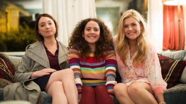 Edie (Antonia Prebble), Julia (Maria Angelico) and Roxy (Lucy Durack) in the new Ten drama