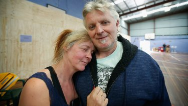 Lesley and Tony Maly, who lost their house in the the Wye River fire.