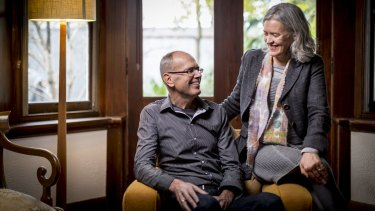 Rob Trinca, pictured with wife Jane Sandow, was diagnosed with dementia in his early 50s.