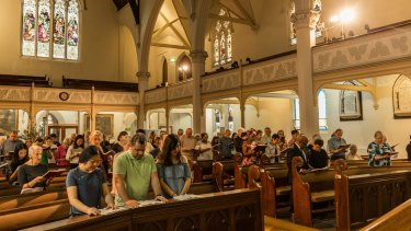 Easter Sunday Mass at Wesley Church  in Lonsdale Street