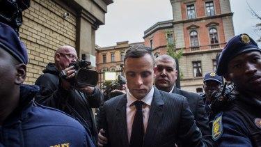 Oscar Pistorius arrives at North Gauteng High Court.
