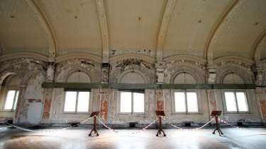 Facelift: The station's fabled, frayed ballroom.