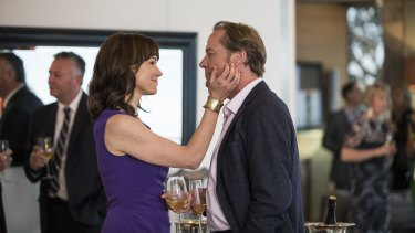 Iain Glen as Jarrod Slade and Frances O'Connor as his wife Charlotte in ABC's <i>Cleverman</i>.