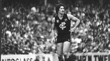 Carlton footballer Mike Fitzpatrick in 1981