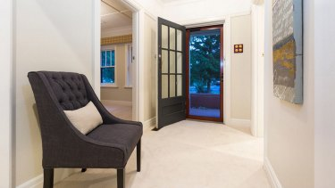 Inside the door at Joe Hockey's former home in Forrest, which went to auction on Saturday.