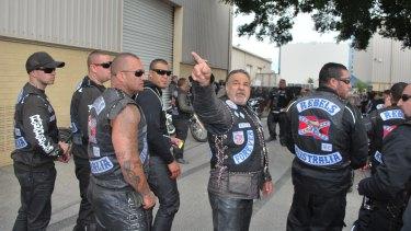 Rebels bikie gang members.