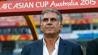Warned: Iran's coach Carlos Queiroz.