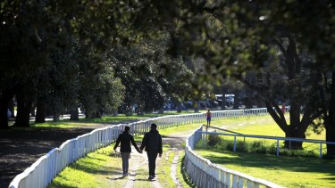 Sydneysiders take advantage of the mild weekend weather at Centennial Parklands.