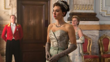 Vanessa Kirby as Princess Margaret in The Crown.