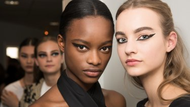 Winged eyeliner has a graphic strength, as seen at the autumn-winter Dior show.