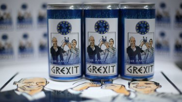 A German firm has registered a vodka lemon drink called Grexit, with Prime Minister Alexis Tsipras and Finance Minister Yanis Varoufakis smiling under the stern face of German Chancellor Angela Merkel.