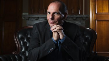 Yanis Varoufakis, Professor of Economics at University of Athens in Sydney last year: Trump's triumph ''demonstrates that we are at a crossroads when change is inevitable, not just possible.''