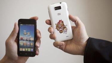 Xiaomi M1 smart phones running the MIUI operating system.