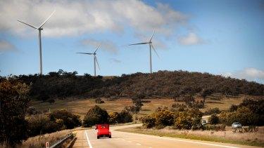 The Cullerin range wind farm, near Canberra.