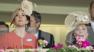 The friends continued their catch up in the royal box where they cheered on the competitors.