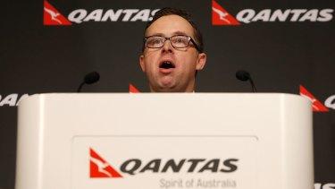 Head on the block: Qantas chief executive Alan Joyce.