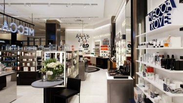 The Mecca Cosmetica concession at Myer Melbourne.