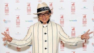 Back on Australian soil ... Jackie Chan will begin filming science-fiction thriller <i>Bleeding Steel</i> in Sydney in July.