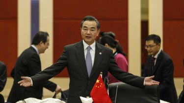 Chinese Foreign Minister Wang Yi at the Association of Southeast Asian Nations (ASEAN) talks in Kuala Lumpur on Wednesday.