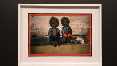Destiny Deacon's <i>Being there</i>, part of <i>Who's Afraid of Colour?</i> at NGV Australia.