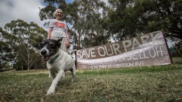 Kaye Oddie is among those upset by Melbourne Water's proposed sale of public land in Brunswick West.