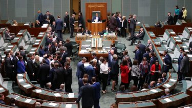 Lower house MPs vote on the same-sex marriage plebiscite bill on Thursday afternoon.