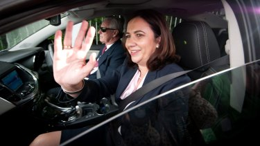 Premier-elect Annastacia Palaszczuk leaves Government House on Friday.