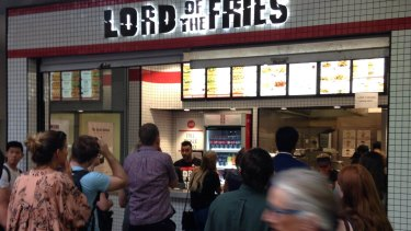 Lord of the Fries has opened  in a hole-in-the-wall on William Street.