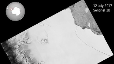 The lump of ice that broke has spawned one of the largest icebergs on record and changed the outline of the Antarctic Peninsula.