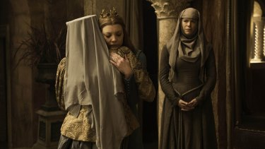 Lady Olenna and Queen Margaery under Septon Unella's creepy gaze.