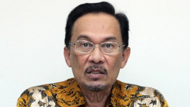 Jailed icon: Malaysian opposition leader Anwar Ibrahim.