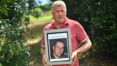 Rob Maynes says his late son Michael dreamed of being in the police force.