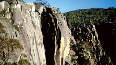 Buffalo Gorge, where a 24-year-old club member fell 20 metres while abseiling in April.