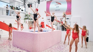 In 2016 the Mumm marquee had a working swimming pool as the centrepiece for its show.