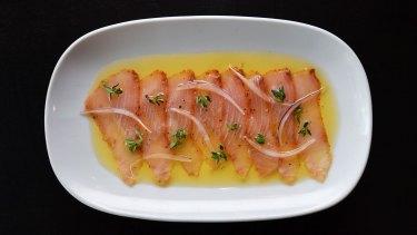 Kingfish pancetta has never left the menu at Bar Lourinha.