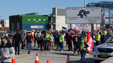Some 40 per cent of Hutchison Ports Australia's workforce of 224 got the overnight termination notices, 57 in Sydney and 40 in Brisbane, Mr Keating said.